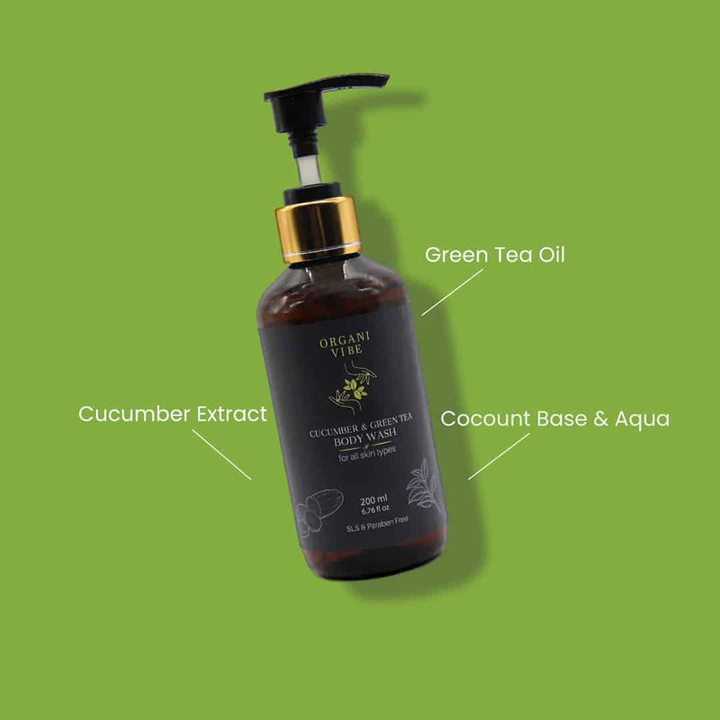 Cucumber & Green Tea Body Wash - Organi Vibe