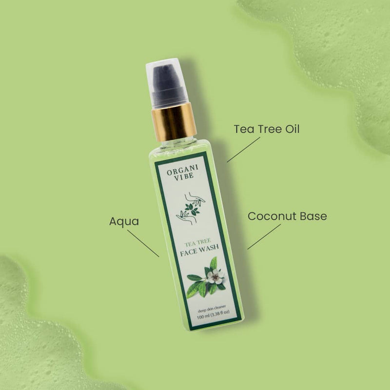 Tea Tree Face Wash - Organi Vibe