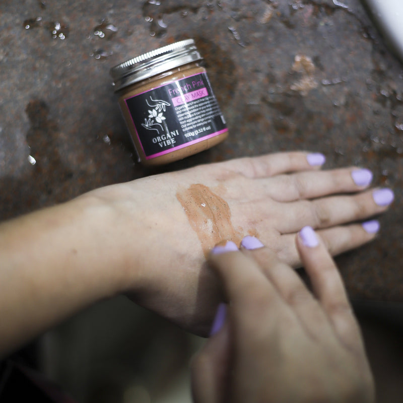 French Pink Clay Mask - Organi Vibe