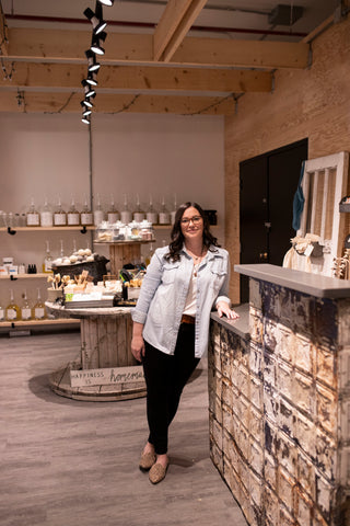 The Alternative owner Karlee stands in the store