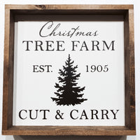 Montgomery Creek Designs 8x8 Holiday Wood Signs