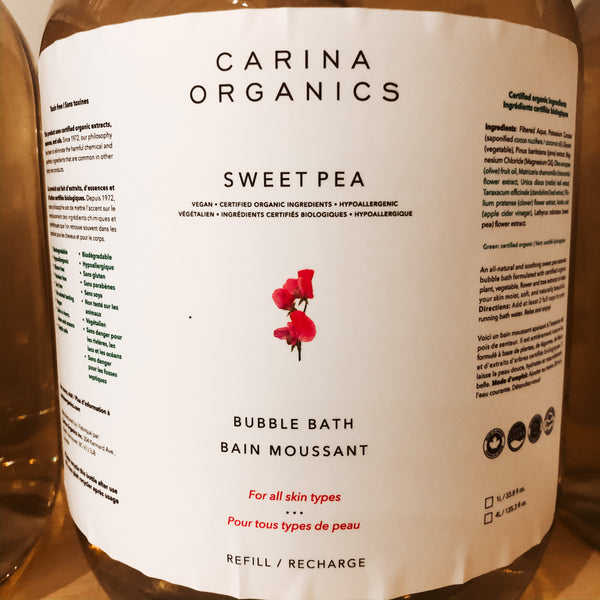 475G Carina Organics Bubble Bath - Sweet Pea - The Alternative