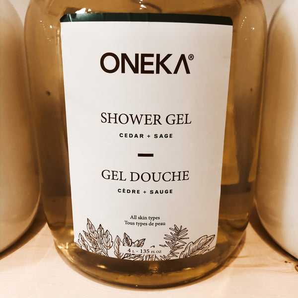 475G Oneka Shower Gel - Cedar & Sage - The Alternative