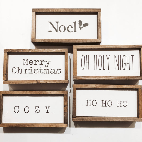 Montgomery Creek Designs 7x4 Holiday Wood Signs