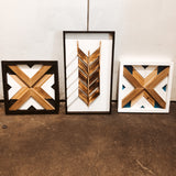 Rustic Green Wood Hangings