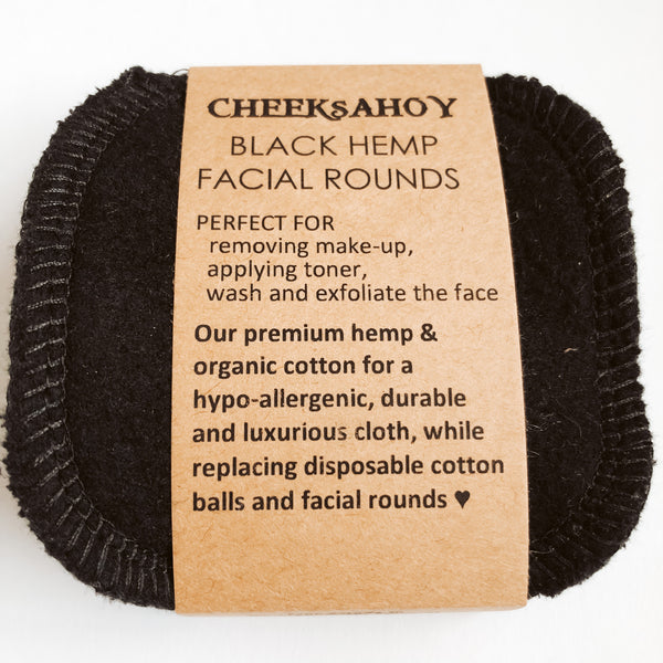 Cheeks Ahoy Hemp Facial Rounds - Set of 6