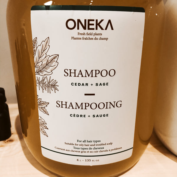 475G Oneka Shampoo - Cedar & Sage - The Alternative