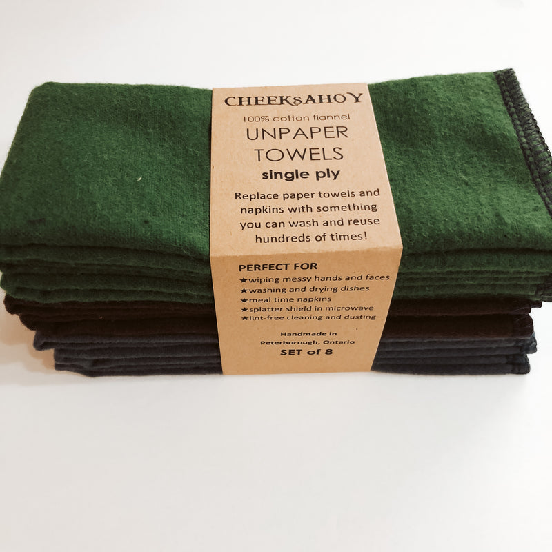 Cheeks Ahoy Single Ply Unpaper Towels - Set of 8 - The Alternative