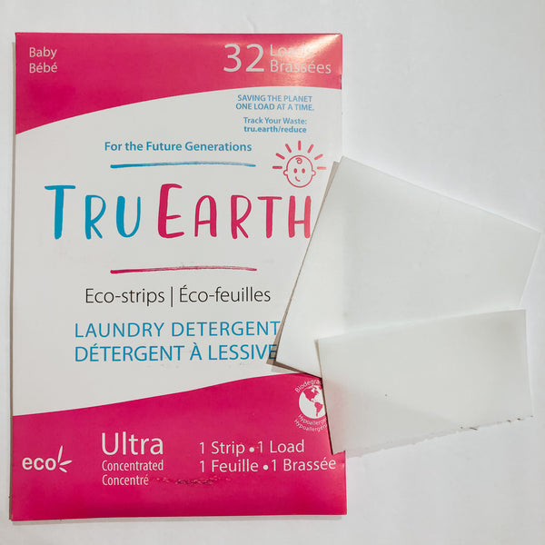Tru Earth Laundry Detergent Strips Set of 32 - Baby