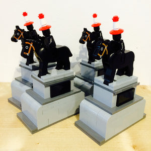 Lego model of Glasgow's Duke of Wellington
