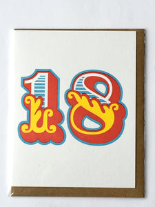 Letter Press Age Birthday Cards