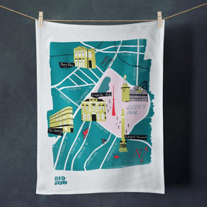 Glasgow Southside Tea Towel