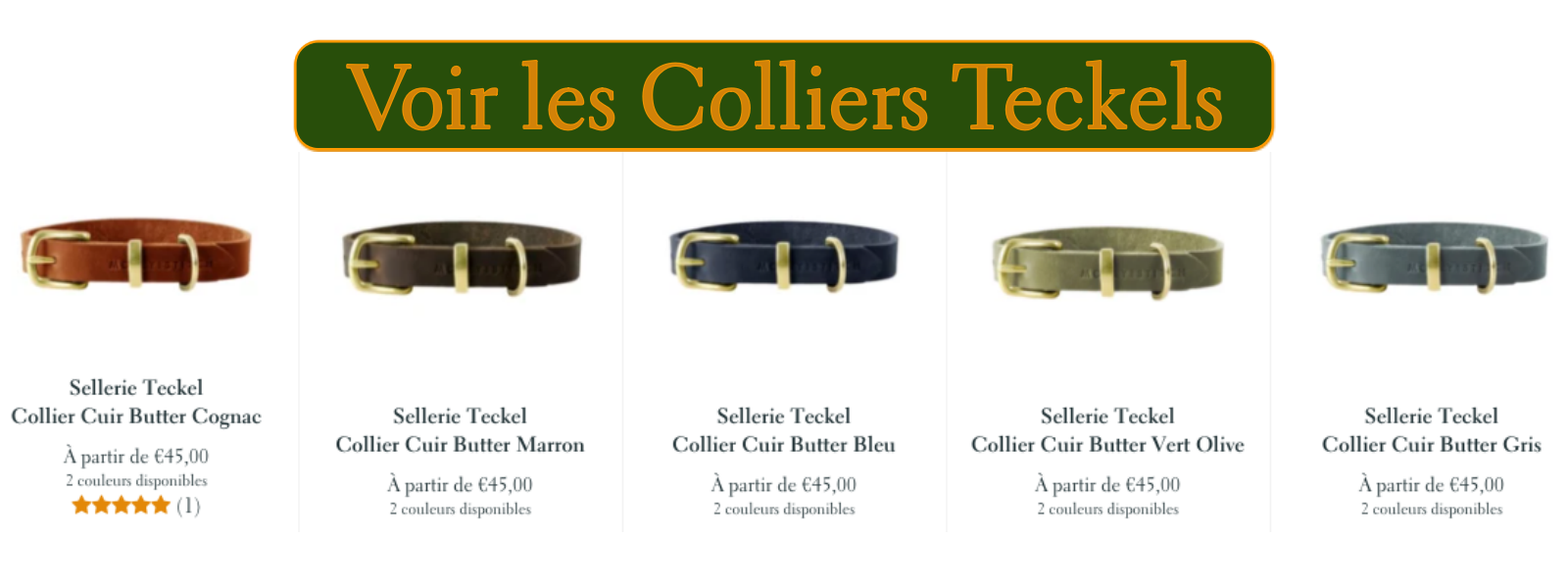 Collier Teckel