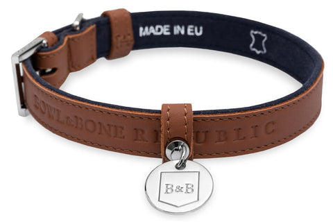 Collier Chien Cuir Luxe