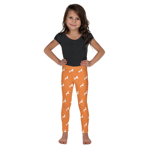 Legging Teckel <br> Orange Fille