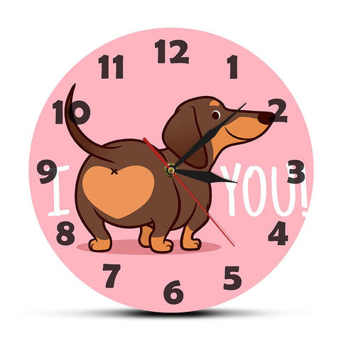 Horloge Chien Hot Dog