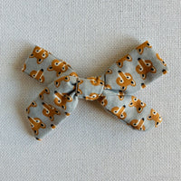 Foxes Bow Hair Clip