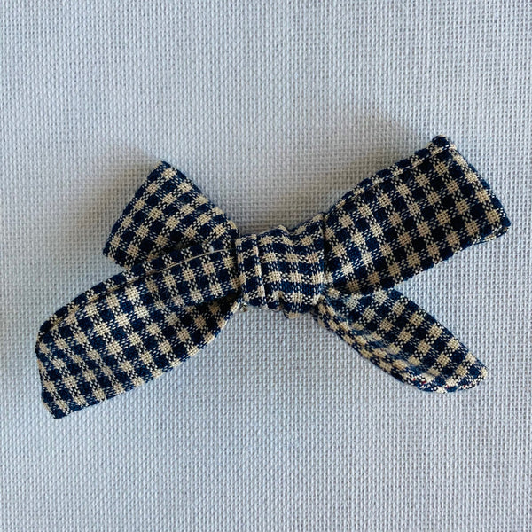 Gingham Bow Hair Clip