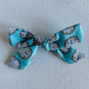 Hedgehog Bow Hair Clip