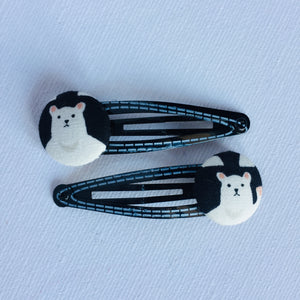 Polar Bear Hair Clips