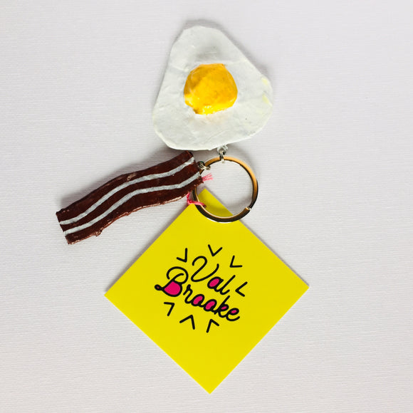 Bacon & Egg Keychain