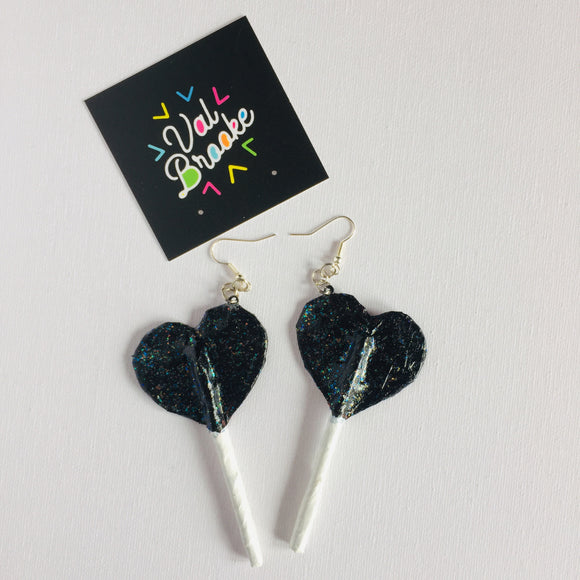 Heart Lollipops - Black