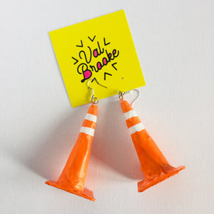 Construction Cone Earrings