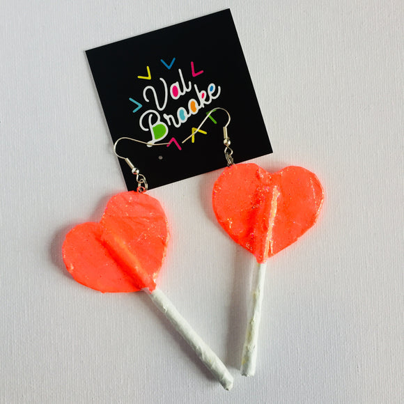 Heart Lollipops - Pink