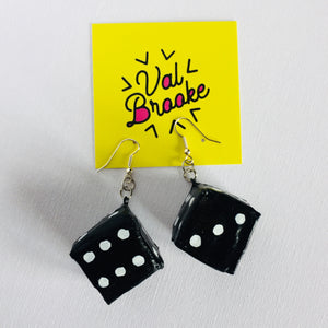 Dice Earring: Black