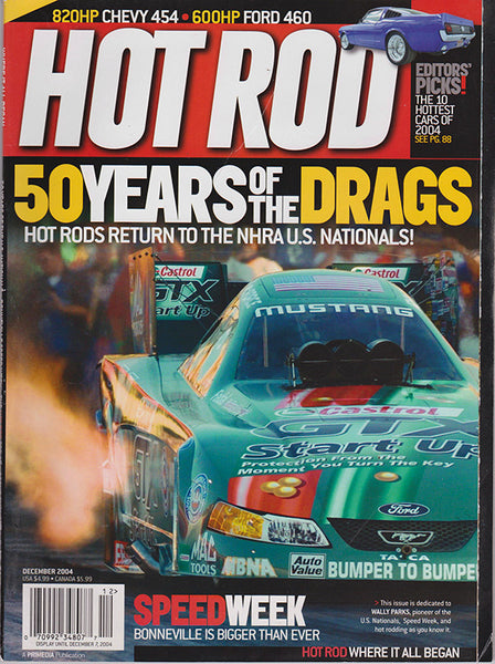 December 2004 Hot Rod Magazine John Force Funny Car Cover