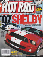 July 2006 Hot Rod Magazine 2007 Shelby Mustang