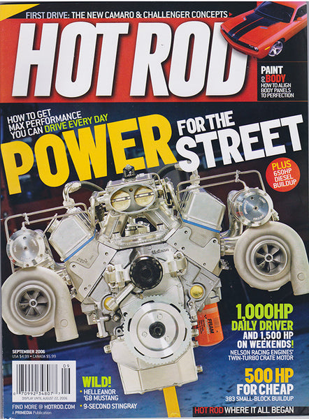 September 2006 Hot Rod Magazine Cover Twin-Turbo Engine