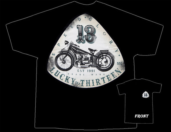 Lucky 13 Old Bike T-Shirt - Nitroactive.net