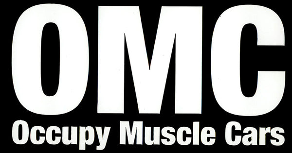 Occupy Muscle Car White Vinyl Sticker - Nitroactive.net