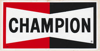 Authentic NOS Champion Spark Plug Sticker 1970s - Nitroactive.net