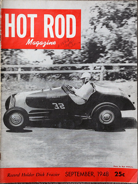 September 1948 Hot Rod Magazine Cover - Nitroactive.net