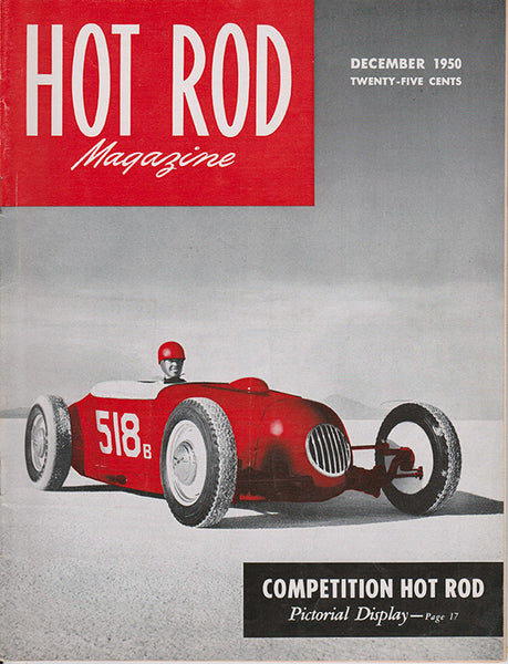 December 1950 Hot Rod Magazine Cover with Bonneville T Roadster