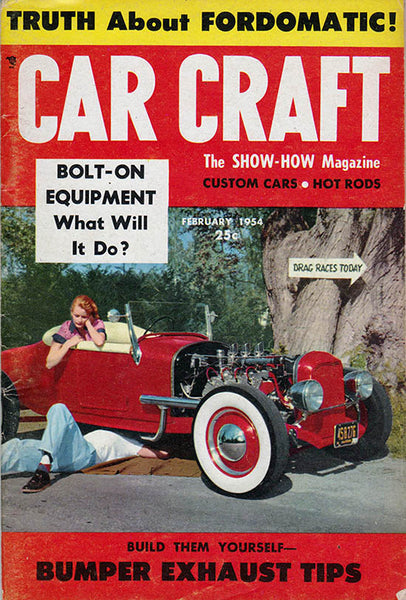 February 1954 Car Craft Magazine - Nitroactive.net