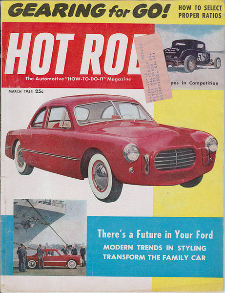 March 1954 Hot Rod Magazine Cover