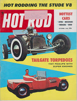 October 1955 Hot Rod Magazine Cover