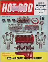 January 1956 Hot Rod Magazine Cover