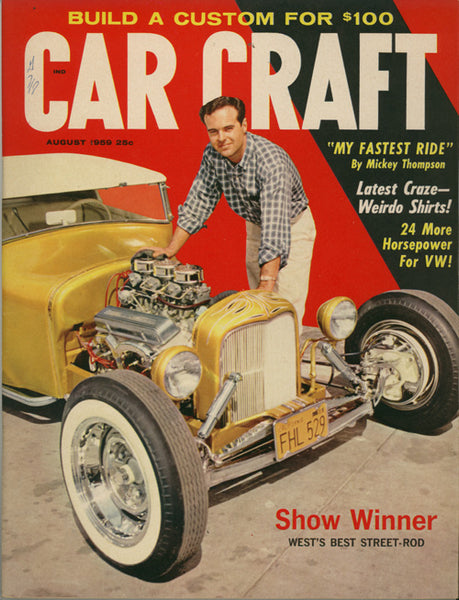 August 1959 Car Craft Magazine Cover Ford Street Rod