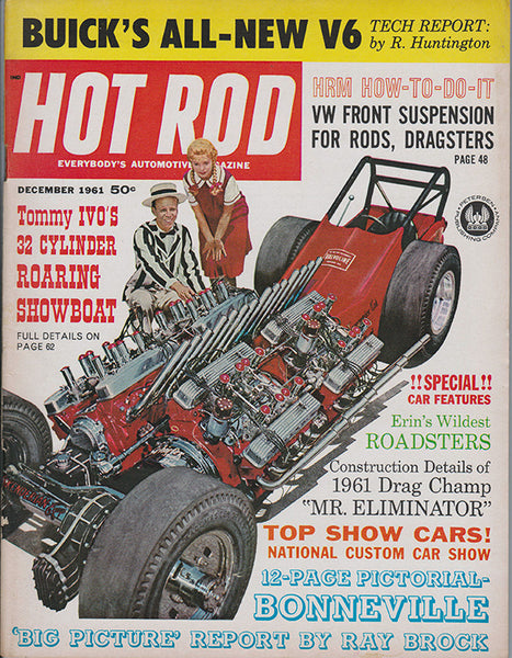 December 1961 Hot Rod Magazine Tommy Ivo Cover Showboat Dragster