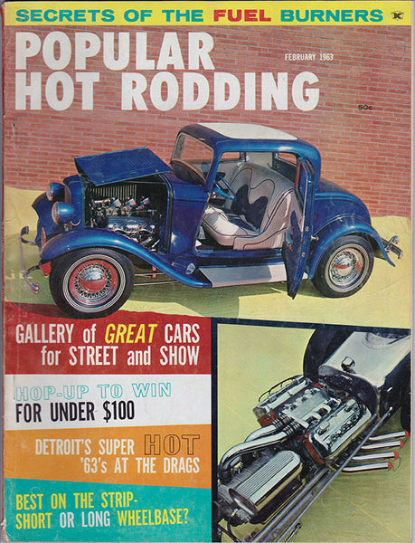 February 1963 Popular Hot Rodding Magazine