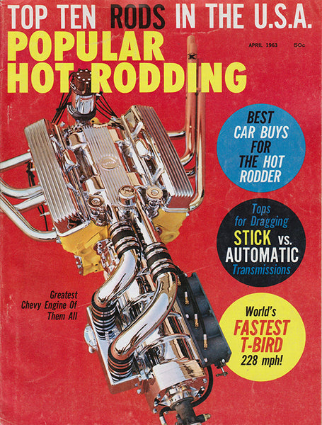 April 1963 Popular Hot Rodding Magazine