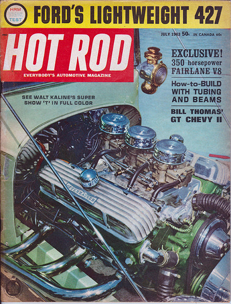 July 1963 Hot Rod Magazine Buick Engine