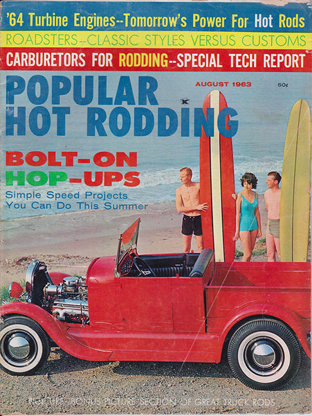 August 1963 Popular Hot Rodding Magazine
