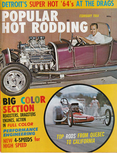 February 1964 Popular Hot Rodding Magazine