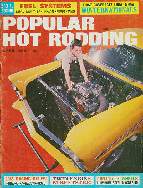 April 1965 Popular Hot Rodding Magazine Cover