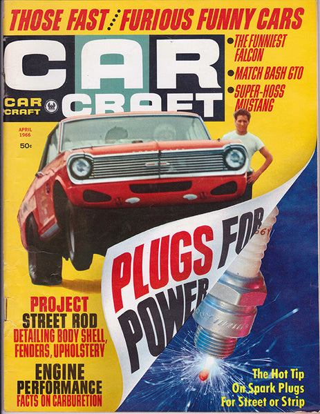 April 1966 Car Craft Magazine Cover